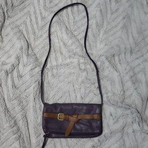 Purple cross body bag purse